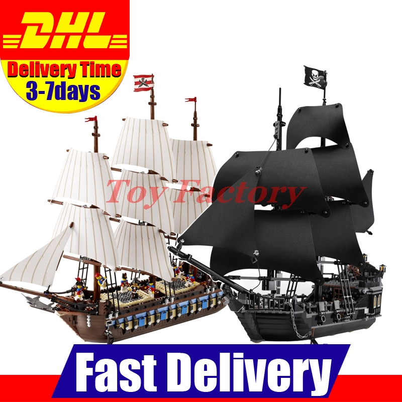ФОТО LEPIN 22001 Imperial Warships  + 16006 Black Pearl Ship Model Building Blocks For children Pirates Series Toys Clone 10210 4184