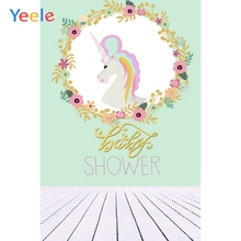Yeele Baby Shower Clever Unicorn Dream Customized Photography Backdrops Personalized Photographic Backgrounds For Photo Studio