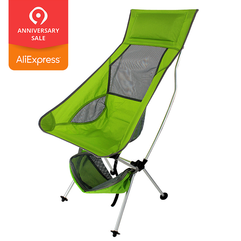Goplus Outdoor High Back Folding Beach Chair Oxford Camping Furniture Portable Mesh Chair Black Seat Fishing Stool Op3079 Outdoor Furniture
