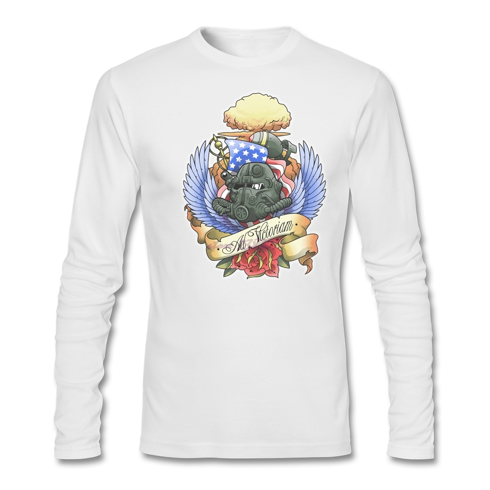 Design your own t shirt cheap uk - Man Full Sleeves Winter Tees Plus Size Ad Victoriamm Natural Cotton O Neck T Shirts Customized