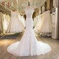 SL-29 Новое Прибытие Кружева Кристалл Русалка Свадебные Платья 2017