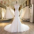 SL-29 New Arrival Lace Cristal Sereia Vestidos de Casamento 2017