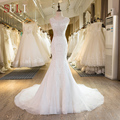 SL-29 New Arrival Lace Crystal Mermaid Wedding Dresses 2017