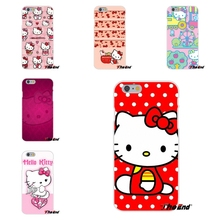 For Samsung Galaxy S3 S4 S5 MINI S6 S7 edge S8 Plus Note 2 3 4 5 Painting Lovely Hello Kitty Pretty Soft  Case Silicone