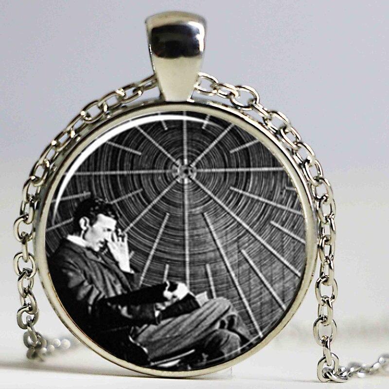 Nikola Tesla Necklace Famous Inventor Inspirational ...