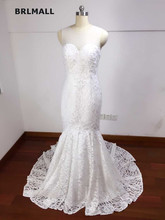 2018 Sexy Illusion Back Wedding Dresses Mermaid Exquisite Lace Bridal Gowns Custom Made Hot Sale Court Train Real Picture