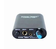 K-mic km501 два канала микрофонный усилитель для динамический микрофон и конденсаторный микрофон 6.5 + 3.5 inpute