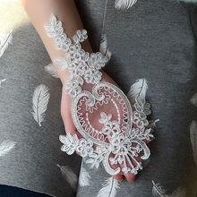 Conjunto de acessórios de vestido de casamento diy, 2 peças, rendas, muitas cores, opções, bordados, renda, aplique, feito à mão