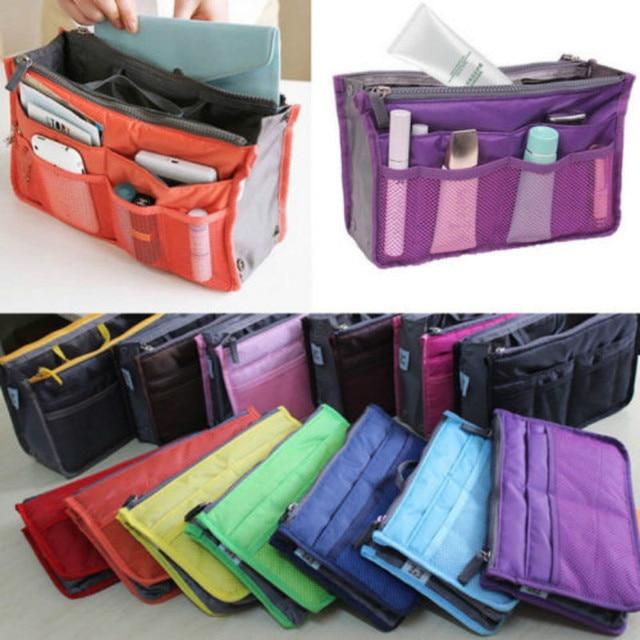 Us Stock Women Organizer Handbag Travel Insert Liner Purse Organiser Pouch Bag