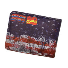 FVIP Comics Dc Marvel Wallet Hulk/Iron Man/ Thor/Captain America/Superman/Bat Man/Flash/Spider Man/Punisher Cartoon Wallets