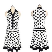Новый 2017 Smmer dress Elbise Vestiti Донна Robe femme Мода рукавов горошек Старинные dress с поясом платья партии