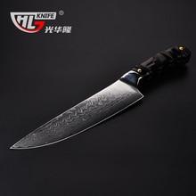 8 zoll Japanische kochmesser Damaskus küchenmesser Japanischen VG10 kern angeln messer Padauk holz handleknife zum schneiden von fleisch