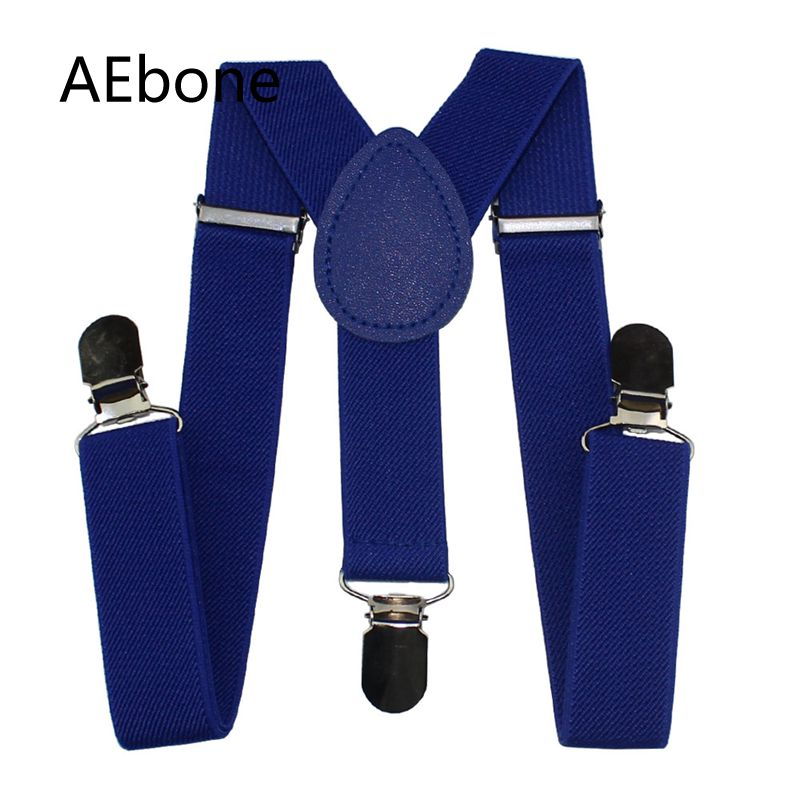 AEbone Baby Suspenders Boys Girls Royal Blue Suspenders 3 Clip Strap Bretels Kids Brace Children Red Tirantes Bebe Wedding Sus63
