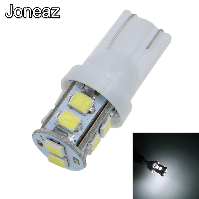 Joneaz 20X <font><b>T10</b></font> canbus <font><b>led</b></font> Wedge Light Interior <font><b>bulbs</b></font> 192 168 194 W5W 2825 158 for <font><b>car</b></font> auto 12 volt 2835 10 <font><b>leds</b></font> 2W white 6000K image
