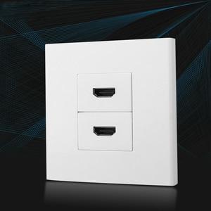 Image 3 - Двойные HDMI розетки, лицевая панель, L образный локоть, HDMI2.0 штекер, Женский удлинитель, настенная розетка