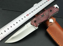 100%NEW KIKU Camping Fixed Knives,5Cr15Mov Blade G10 Handle Hunting Knife,Outdoor Tactical Knife