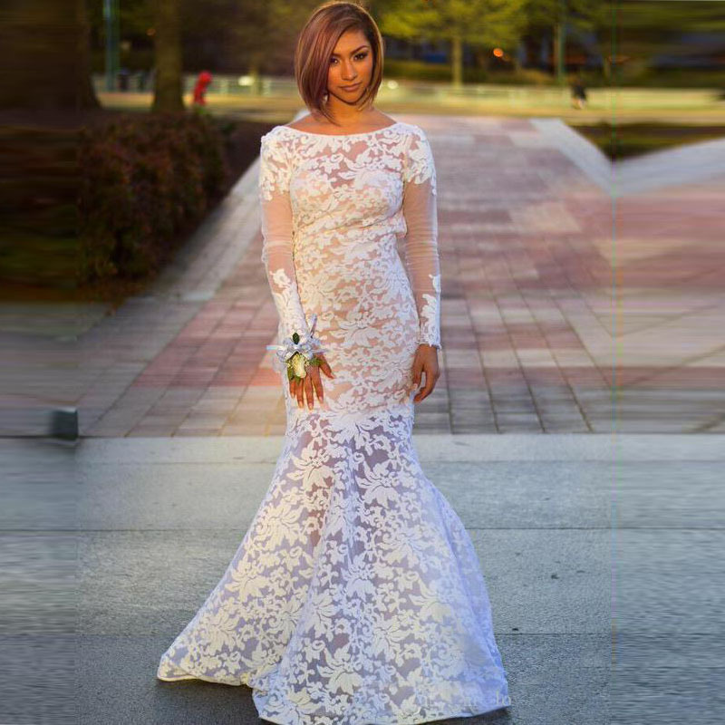 Compare Prices on Long White Prom Dress with Sleeves- Online ...