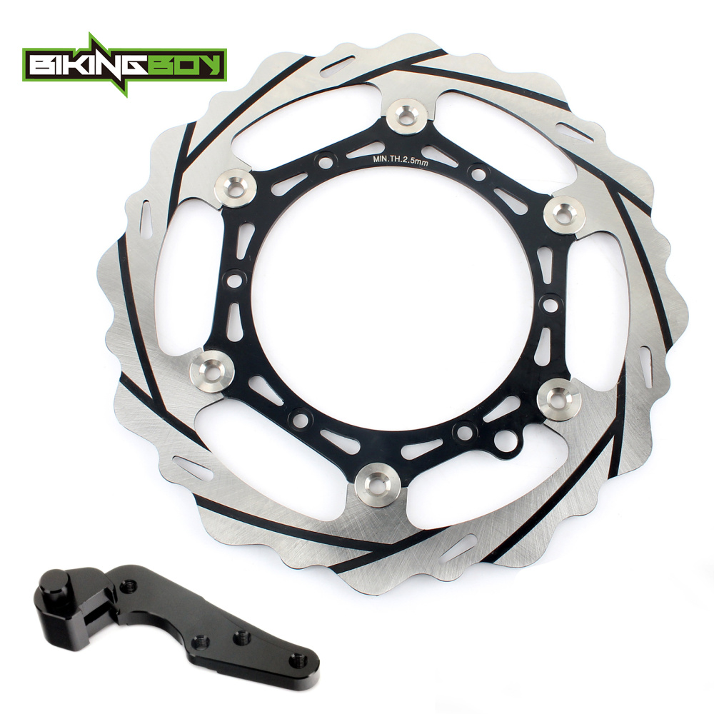 BIKINGBOY 270MM Oversize Front Brake Disc Rotor Bracket For KTM 125 200 250 300 400 450 500 530 EXC 125 144 150 200 250 SX motorcycle front rider seat leather cover for ktm 125 200 390 duke