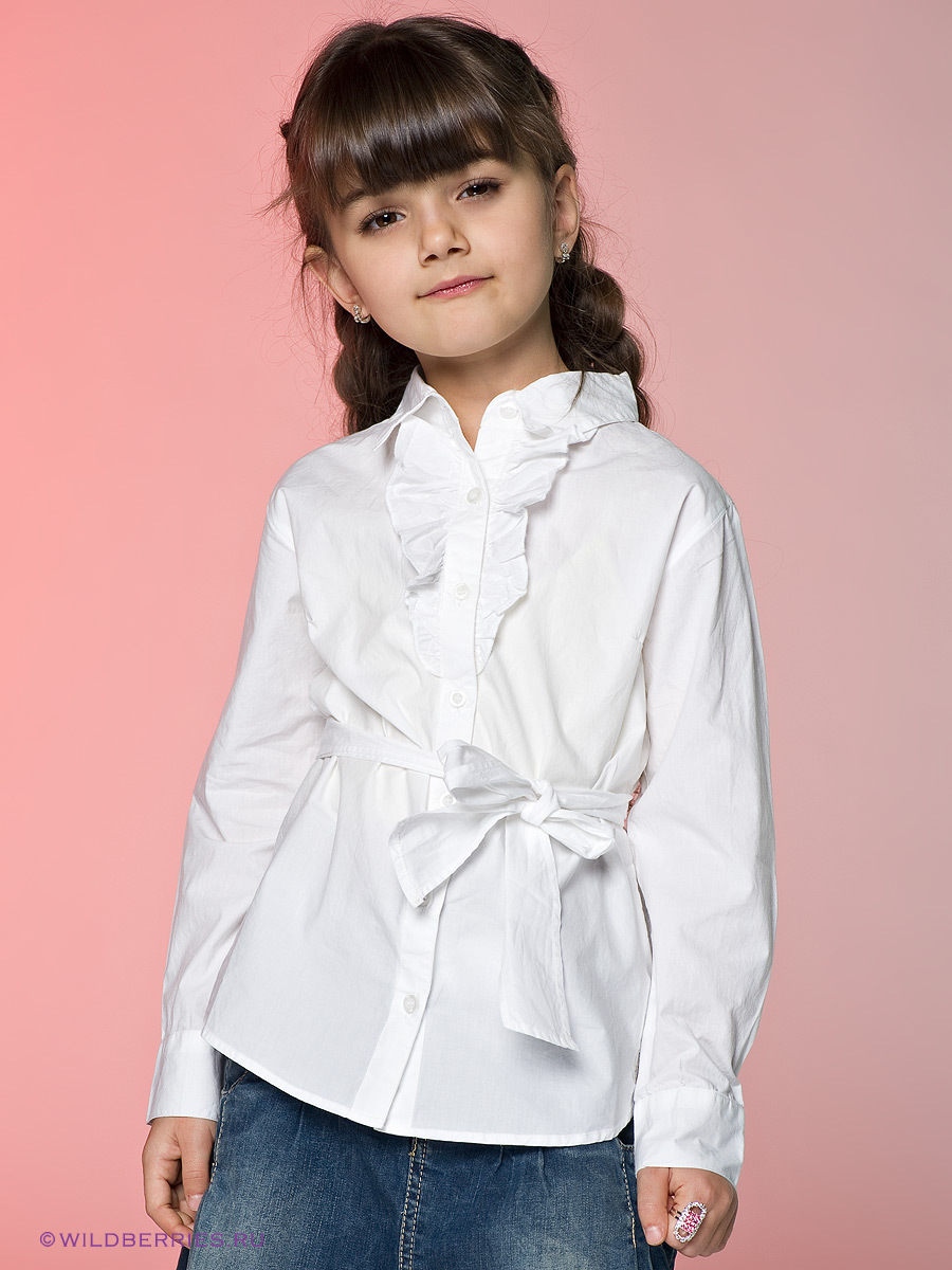 Long Sleeve Girl Blouses Girls School Shirt Teenage -5857