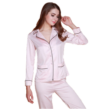 New Arrival 3 Color Lady Silk Sleep & Lounge Lingerie Temptation Classic Sleepwear Frock+Pants Pajama Sets Size M L XL XXL 0017
