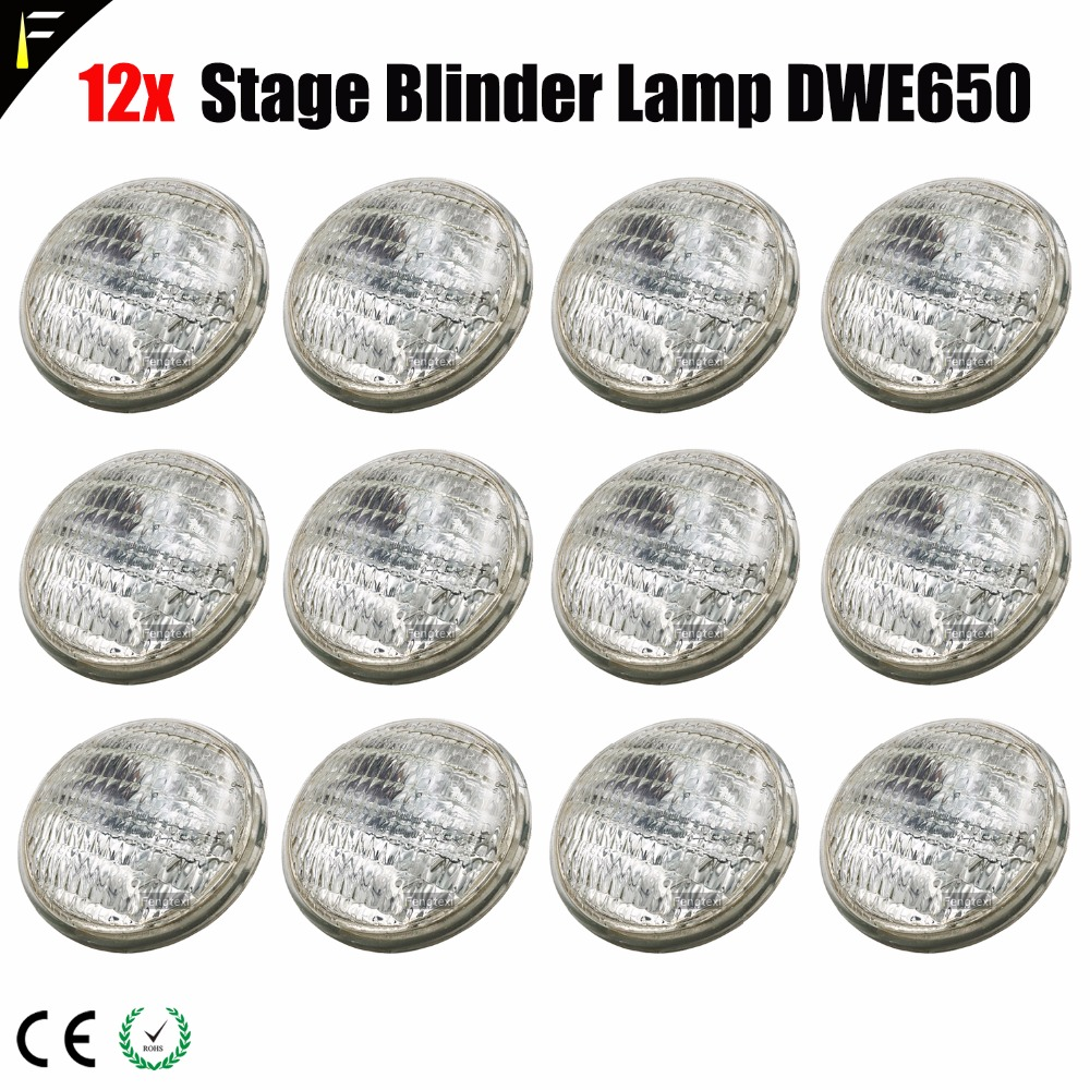 Blinder Lamp DWE PAR36 650 W 120v AC Lamp Replace GE Light For Blinders 2/4/8 For Stage Light Front Surface Audience Light