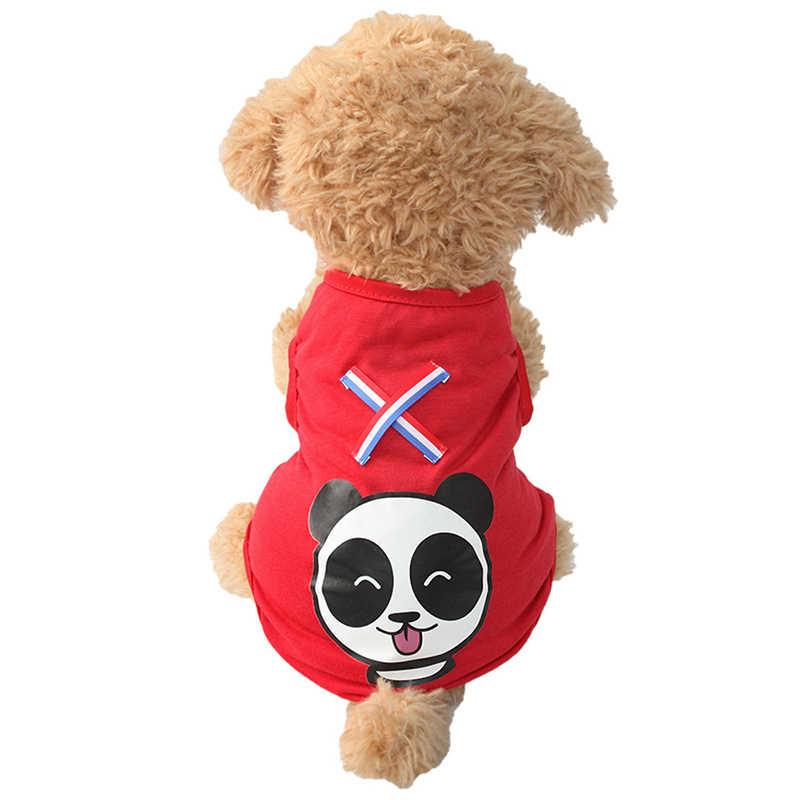 Armi dibujos animados Panda patrón perro chalecos verano rojo chaleco para perros 6171014 mascota cachorro ropa suministros XS S M L XL XXL