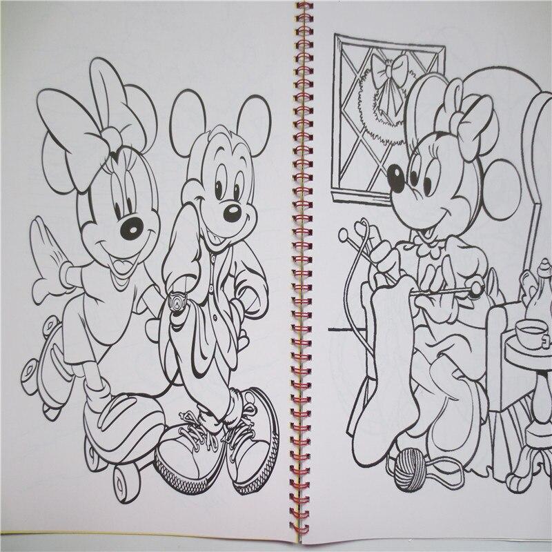 Portátil grande dibujos animados libros para colorear Mickey con 30 ...