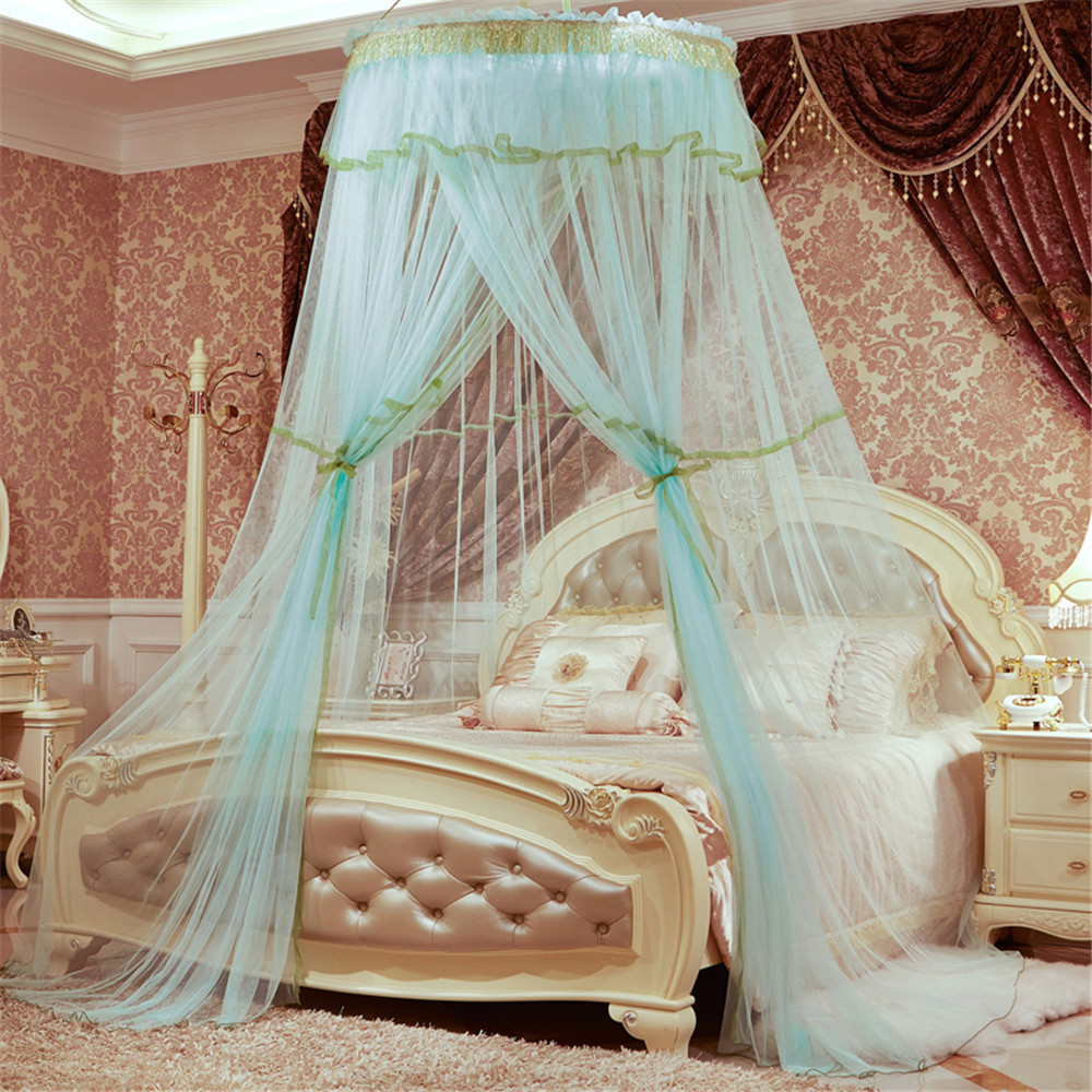 2017 New Arrival Mosquito Net Curtain For Bedding Set Single Door Blue Princess Bed Canopy Bed Netting Tent Mosquiteiros De Teto