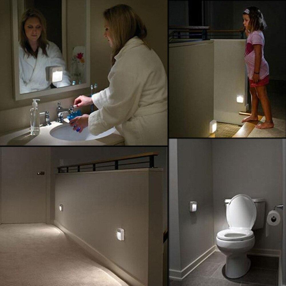 Горячая 0,5 Вт движение активированный беспроводной датчик света светодиодные лампы инфракрасного датчика маленький ночник бра кровать-осв... ...