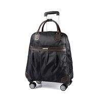Men S Universal Wheel Travel Bag Unisex Large Capacity Waterproof Trolley Bag Boarding Box Travel Caster