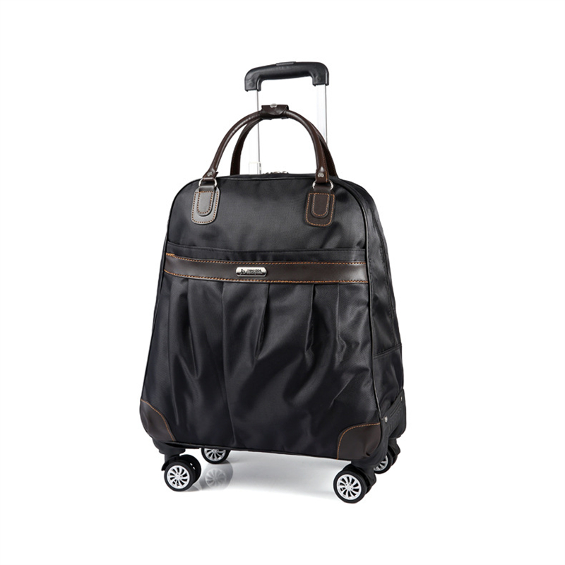 Men's Universal Wheel Travel Bag Unisex Large Capacity Waterproof Trolley Bag Boarding Box Travel Caster Trolley Luggage Bag
