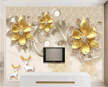 beibehang Custom luxury atmospheric jewelry diamond silk swan home and rich background wall painting wallpaper behang
