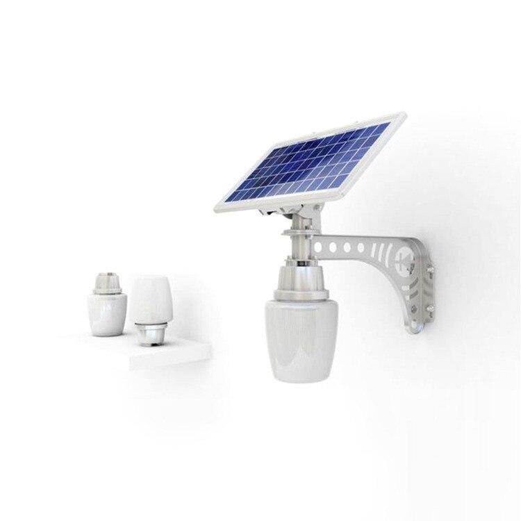 6 w movido a energia solar levou luz de rua de microondas motion sensor led lamp quintal/integrado de iluminação do jardim ao ar livre luz da parede luz - 4