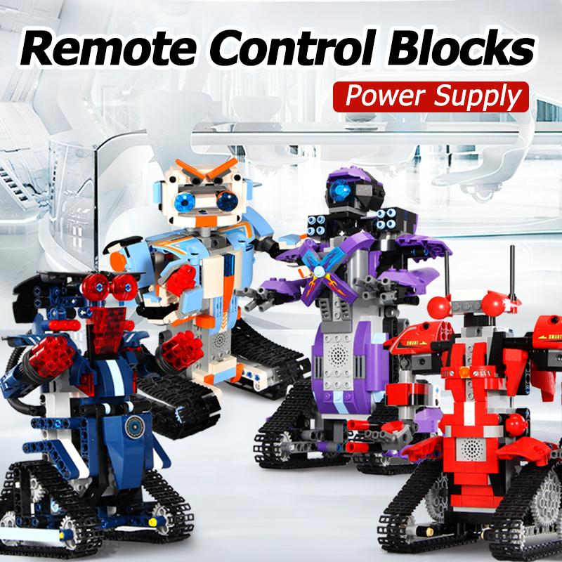 Blocs Robot modèle sport RC télécommande technologie intelligente construire modulaire bricolage assembler des briques jouets pour les garçons