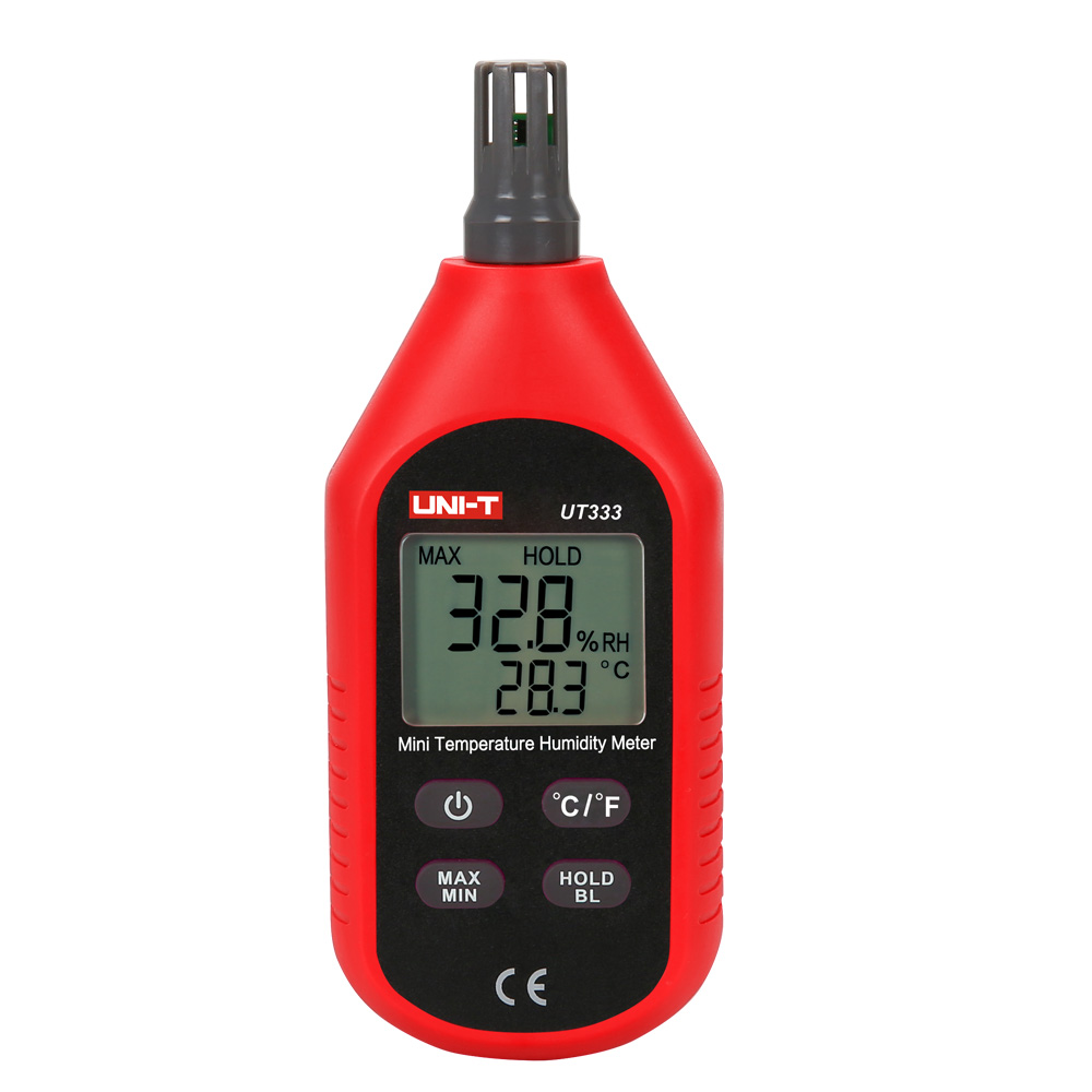 UNI-T UT333 Mini Digital Temperature Humidity Meter Thermometer Hygrometer Indoor Outdoor Temperature Tester LCD Display C/F zeast thermometer hygrometer digital lcd indoor outdoor 1 5m cable probe temperature humidity meter 50 to 70 c