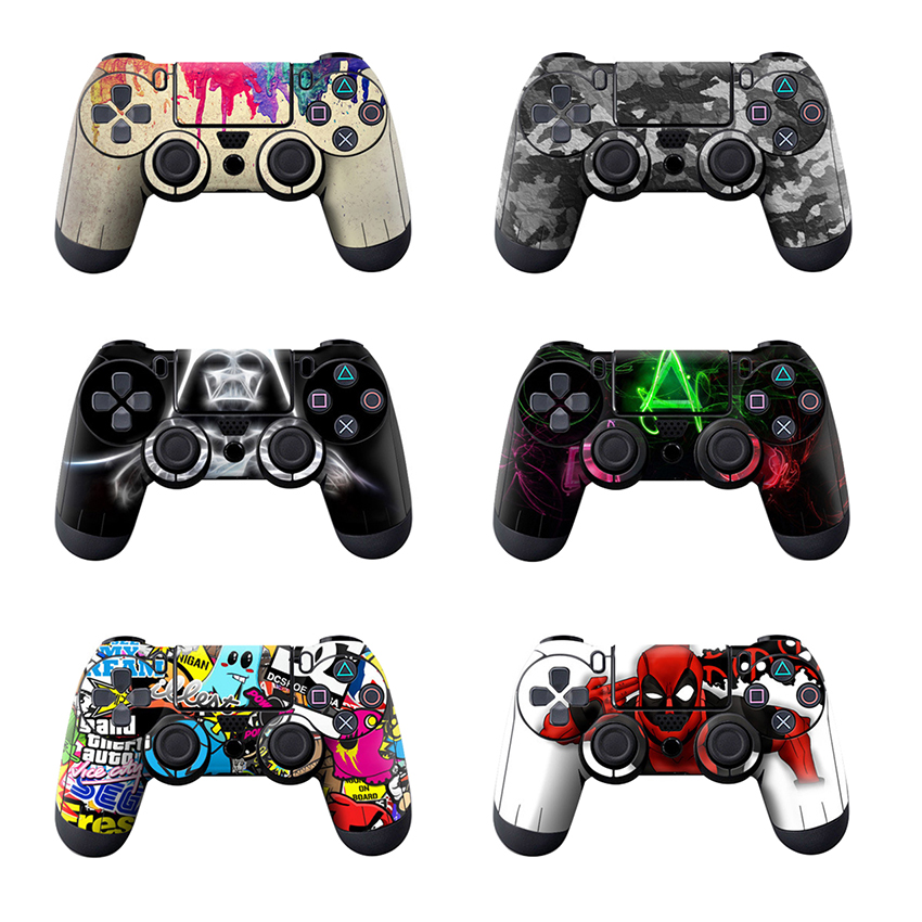 Colorful Game Controller Handle Stickers Decals Cover Skin for Sony PS4 Slim Console Joystick PS4 PRO Accessories