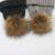 Pele Pompom Chapéus Mulheres Inverno Quente Chapéu de Lã Bola Cap Gorro de Pele De Vison Real Raccoon