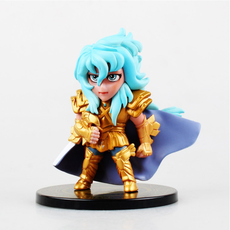 2016 NEW hot 10cm 6pcs/set Q version Saint Seiya soul of gold Shiryu Shun Hyoga Ikki Nendoroid Mini Action figure toys Christmas toy with box