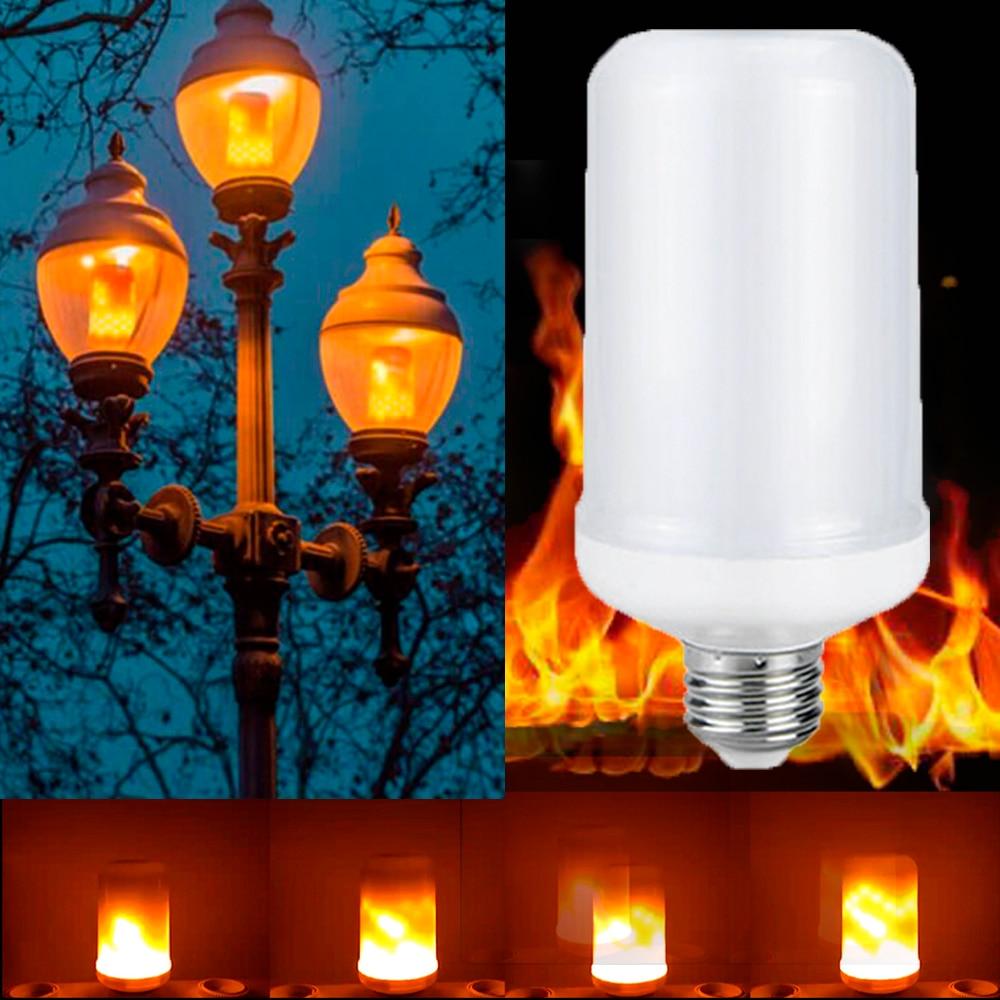 LED Light Bulb Flickering Emulation Flame Effect ...