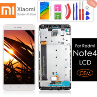 5.5 Original For Xiaomi Redmi Note 4 LCD Display and Touch Screen With Frame For Xiaomi Redmi Note 4 Digitizer Assembly +Gifts