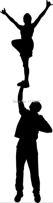 Cheer Liberty Stunt Cheerleader Decal Vinyl For Car Window