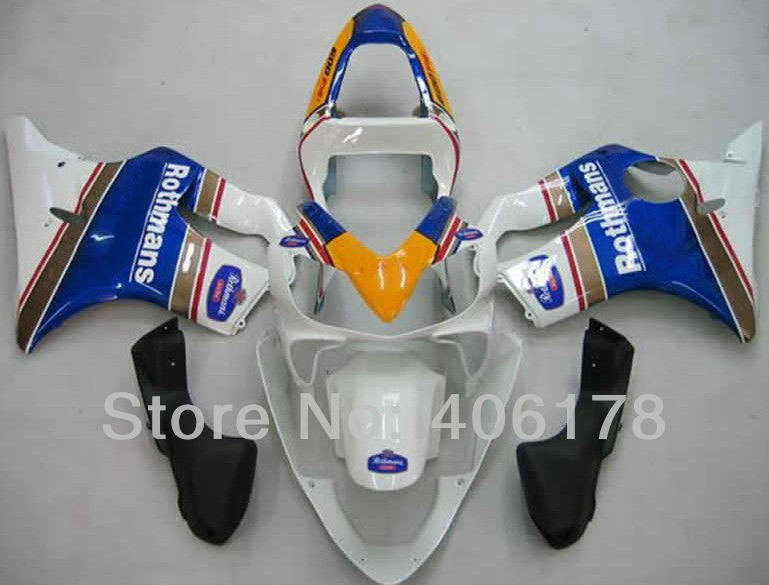 Hot Sales,ABS Fairing Kit For Honda CBR 600 F4i 2001 2002 2003 CBR600 01 02 03 Rothmans Motorcycle Fairings (Injection molding)