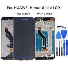 Original para huawei honor 8 lite PRA TL10 pra lx1 lx3 display lcd de toque digitador da tela para honra 8 lite com quadro telefone peças