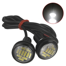 цена на 1 x White DC 12V 15W 23mm Eagle Eye LED Daytime Running DRL Backup Light Car Auto Lamp Daytime Running Light