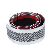 Side Anti-Collision Strip Protector Edge Carbon Fiber silver Sill 3cmx1m Replacement Front
