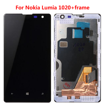 Zeroksy LCD For Nokia Lumia 1020 LCD Screen Display Touch Screen Digitizer Assembly Black For Nokia1020 With/without Frame
