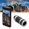 Alta calidad 8X Zoom telescopio Monocular teléfono con cámara de lente con cubierta trasera del caso para iPhone 6 / 6 s envío gratis CL-83