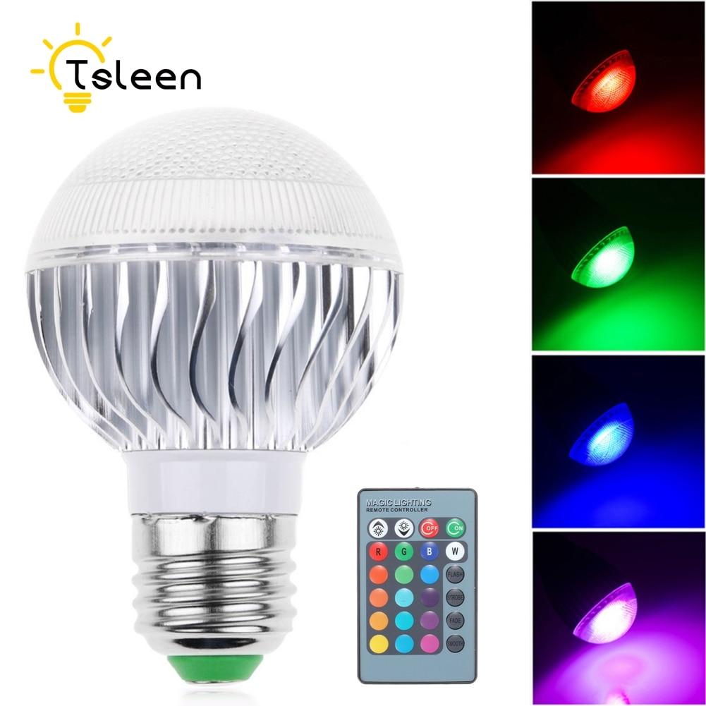 TSLEEN Cheap! E27 E14 E26 LED 16 Color Changing RGB Magic Light Bulb Lamp 110V 120V 220V RGB Led Light Spotlight+Remote Control