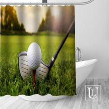UL Custom Golf Bathroom Beautiful Decor Shower Curtain