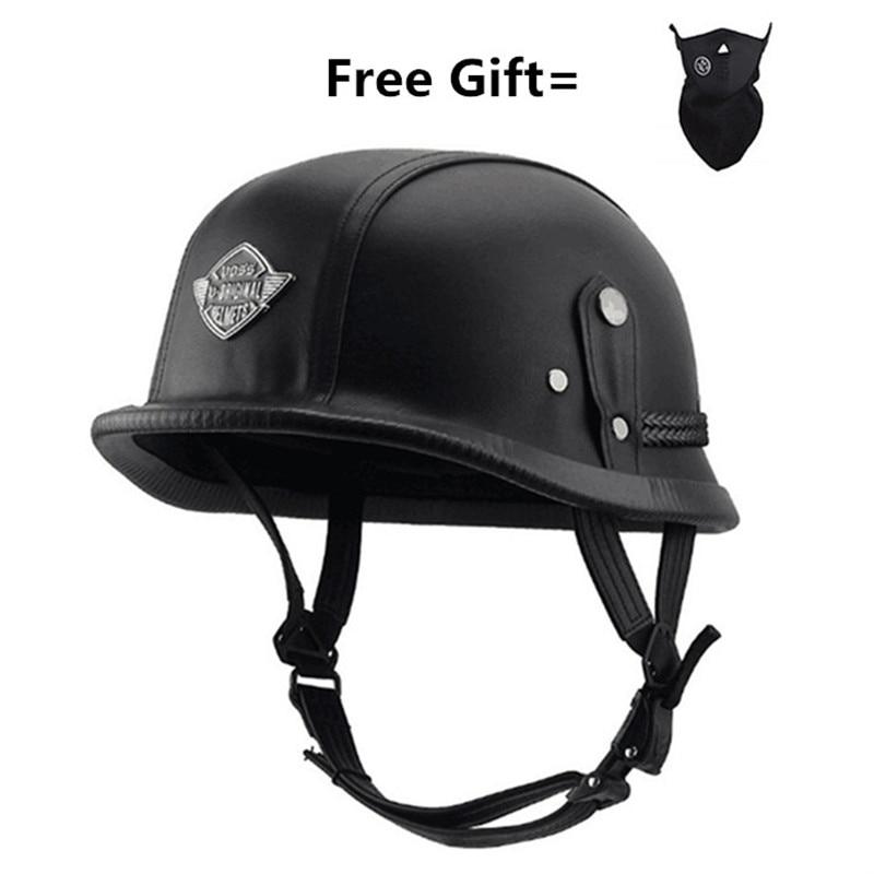 Unisex Half Face Motorcycle Helmets German Retro Vintage Helmet Chopper Cruiser Biker Helmets Bicycle Casque Moto